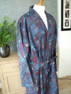 Sammy Blue Mix Vintage Robe Great Condition Sz Large