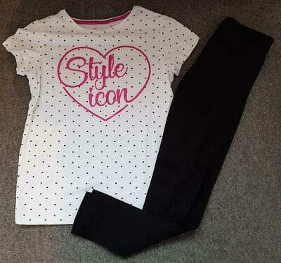 Gorgeous Girls Back Leggings And Glitter, Spotted Short Sleeve Top, 11-12 Yrs