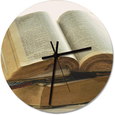 'Old Book' Printed Wooden Wall Clock (CK000867)