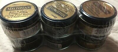 Rare Dusky Brown 41 Meltonian Boot Shoe Cream Polish 6 jars sealed  conditioning