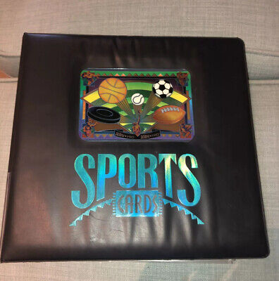 Ultra Pro Sports Card Album And 75 Card Sleeves Used Basketball Baseball Hockey
