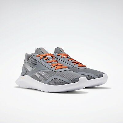 Reebok EnergyLux 2.0 EG8558 Running Men's Shoes Size 9.5 Grey/Orange Memory Tech