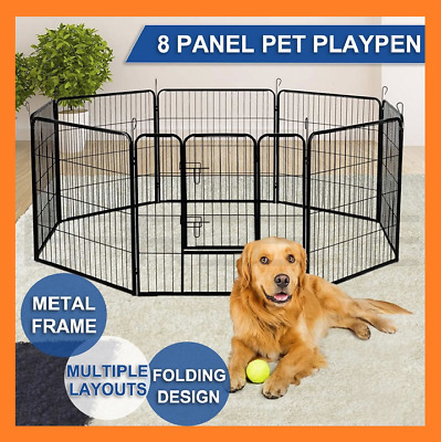 2020 NEW 8 Panel Pet Dog Playpen Puppy Exercise Cage Enclosure Fence Play Pen