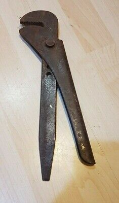 "VINTAGE 12"" Adjustable FOOTPRINT WRENCH PIPE Vice GRIPS Pliers Stillsons Jaws"