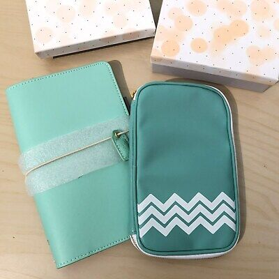 WEBSTERS PAGES Color Crush Travellers Notebook Planner in Mint with Pouch BOXED