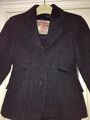 Harris tweed designer girls jacket age 7 8 9
