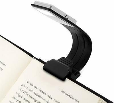 Clip On Book Light USB Rechargeable Reading Lamp Eye Care Flexible 4 Lvl Dimmabl