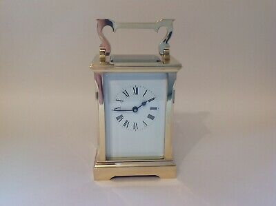 Stunning Quality English Brass Carriage Clock  From A C Gibson Fully Restored
