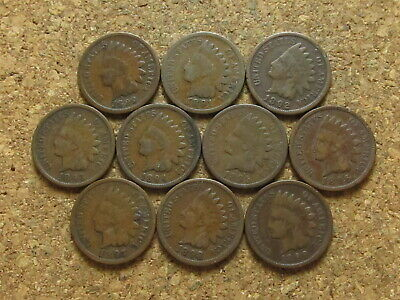 1890 1891 1892 1893 1894 1895 1896 1897 1898 1899 Indian Head Cent Penny Lot