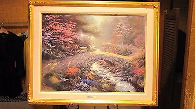 BRIDGE OF FAITH by THOMAS KINKADE Studio Proof Lithograph on Canvas: #18 of 95