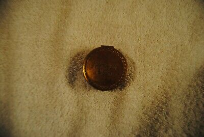 Antique Pompeian Bloom Tin 1920s Ladys Copper Cosmetic Make-up Compact with Lid