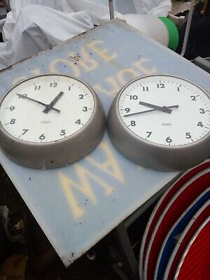 2 Vintage Gent Slave clocks