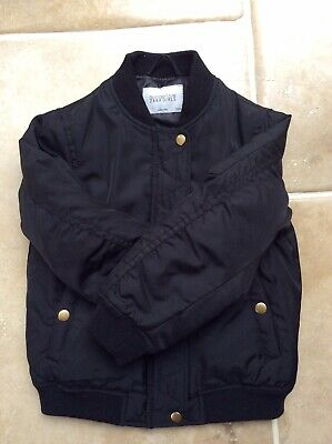Girls Bomber Jacket ZARA Black 6 Year Old