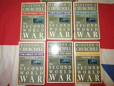 Winston Churchill The Second World War Books Volumes 1 to 6 Penguin Boxed set