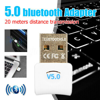 USB bluetooth 5.0 Adapter Wireless Dongle Stereo Receiver for PC Win 10,8,7/XP W