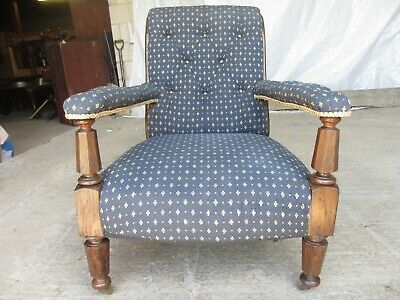 Victorian William 4th oak easy armchair (ref 736)