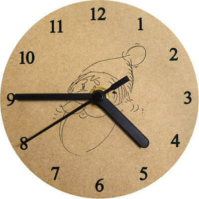 'Father Christmas' Printed Wooden Wall Clock (CK009440)