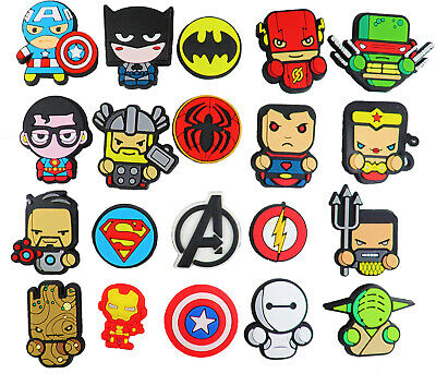 20 pcs Superheroes Shoe Charms for Croc & Bracelet jibbitz Wristband Kids Party