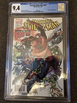 Amazing Spider-Man #500 CGC 9.4 White Pages NEWSSTAND VARIANT SCARCE + Reader!