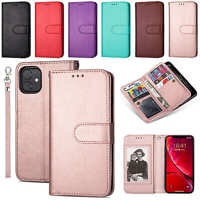 For iPhone 11 Pro Max XR 7 8 Plus Retro Cover Magnetic Leather Wallet Flip Case