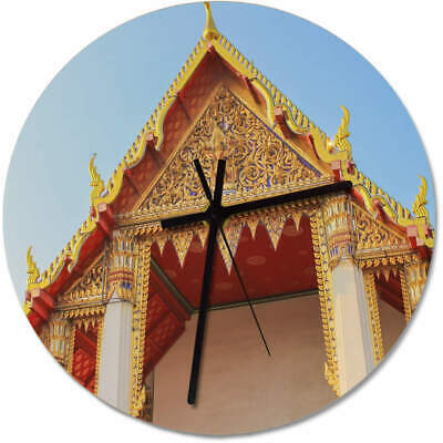 'Ornate Temple' Printed Wooden Wall Clock (CK055182)