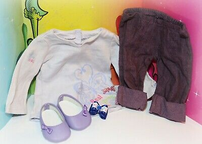 ❤️American Girl Blaire Purple Outfit Truly Real Me Meet Jeans Pants Shoes Set❤️