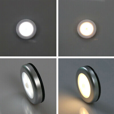 Wireless Auto Sensor Motion Activated Cordless Infrared LED Night Light Silver