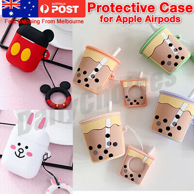 Cute Cartoon Silicone Airpod Protective Case Cover Skin For Apple Airpods 1 2 AU