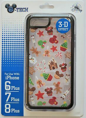 Disney Parks 2019 Christmas Sweet Treat Clear Iphone 6s/7/8 Plus Phone Case NWT