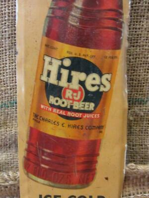 Vintage 1950s Hires Root Beer Sign > Antique Charles Hires Co Real Roots 5287