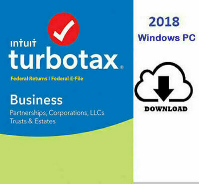 Turbotax Business 2018 Win Fed & Efiles USA SELLER TAX DAY Official Download!