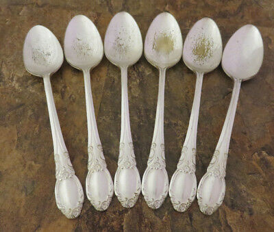 Oneida Park Lane Chatelaine Set 6 Teaspoons Spoons Wm A Rogers Silverplate Lot J