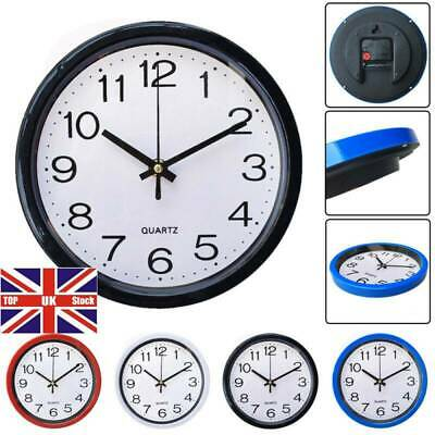 1PC Simplicity Bedroom Home Sweep Second Movement Quartz Bell Silent Wall Clock