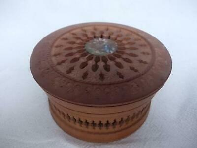 415 / Early 20Th Century Swiss Hand Made Hand Carved Fretwork Wooden Box