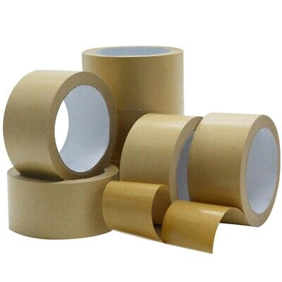 Brown Kraft Paper Tape Self Adhesive Strong Eco Packaging Parcel Material` Shns
