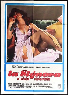 La Signora E' Stata Violentata Manifesto Cinema 1973 Used Sexy Movie Poster 2F