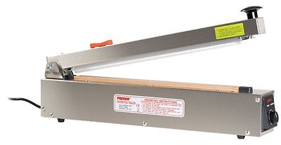 BAG SEALER STAINLESS STEEL BODY WITH CUTTER 400mm x 2mm seal PBS-400-CSS
