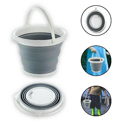Silicon Plastic Folding Bucket Collapsible Water Kitchen Camping Carrier Garden