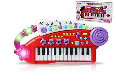 SOKA® Piano Carry Along Keyboard Children Kids Musical Instrument Toys - Red