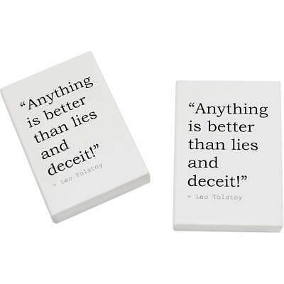 2 x 45mm Truth Quote By Leo Tolstoy Erasers / Rubbers (ER00004631)