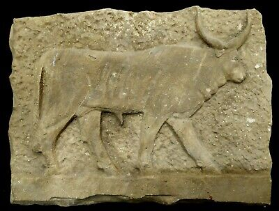 Rare Apis Bull Relief Egyptian Antique Plaque Stela Hieroglyphic Wall Amarna Art