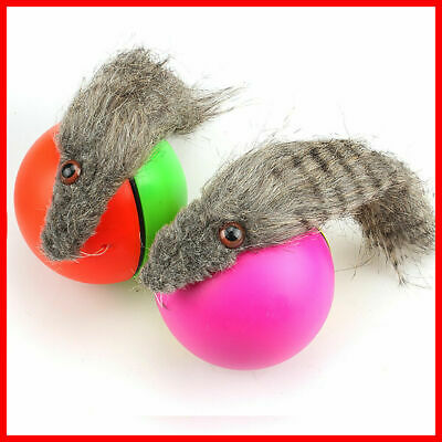 Dog/Cat Moving New! Weasel Funny 8x23cm Appears Rolling Ball Pet Toy Motorized
