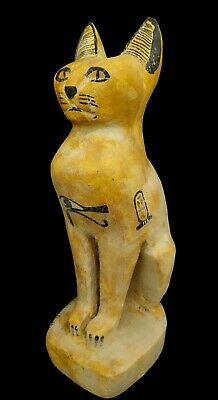 Giant Sculpture Egyptian Antique Bastet Statue Bast Rare Bubastis W/T Wedjet
