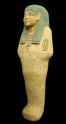 Giant Rare Shabti Egyptian Antique Ushabti Bc Ancient Statue Faience Late Period