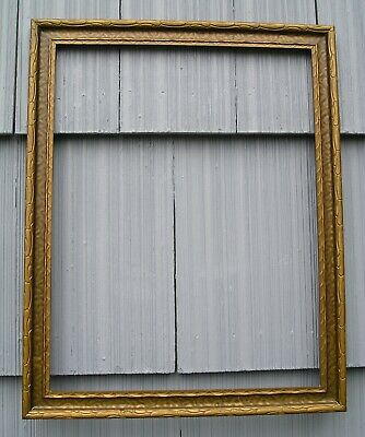 Stunning Art Crafts Patterned Bronze Gold Finish Picture Frame 15 1/4 x 19 3/4