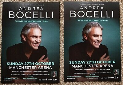2 Flyers - Andrea Bocelli - Manchester Arena - 27th October 2019