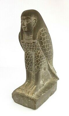 Horus Ra Statue Ancient Egyptian Antique Falkon God Faience Hieroglyphic Pharaoh