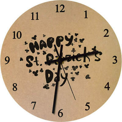 'St. Patrick's Day' Printed Wooden Wall Clock (CK016477)