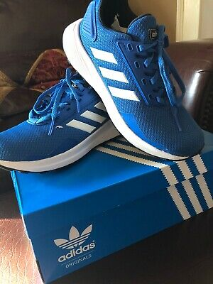 Addidas Duramo 9 K Boys Sneakers Shoes  Blue/White Size 3.5 NEW In Box