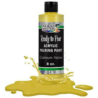 Pouring Masters Cadmium Yellow 8-Ounce Bottle Water-Based Acrylic Pouring Paint